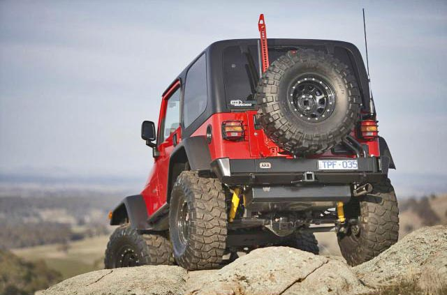 Shot Of The TJ Rear Bumper And Tire Carrier. Click On The Shot For An Ultra  Large Close Up View.