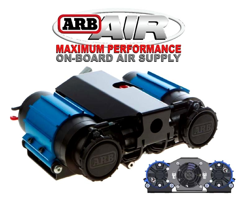 jeep liberty arb air lockers compressors for jeep liberty by arb arb twin compressor high output