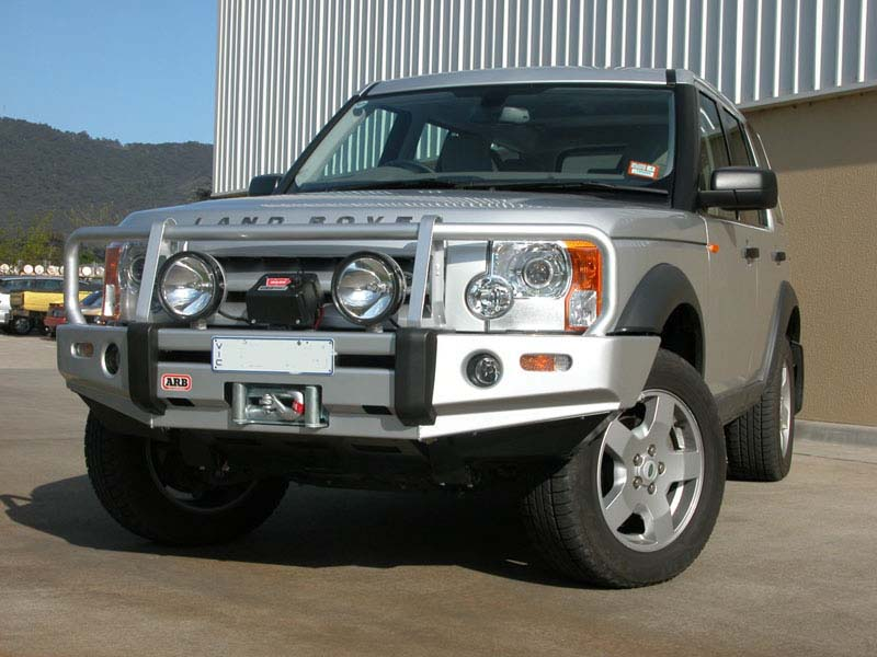 Arb bull bar bumper and warn winch land rover lr3 arb bull bar aloadofball Image collections