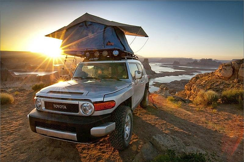 FJ roof top tent & Toyota Landcruiser Roof Top Tent: Landcruiser Roof Top tent