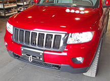 Grand Cherokee winch cover plate