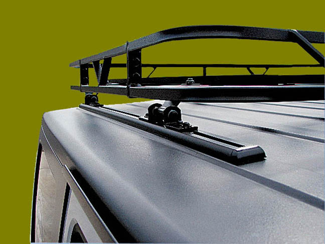 A Closer Up Shot Of The Super Clean Looking Track Rack Design For Hardtop Jeeps