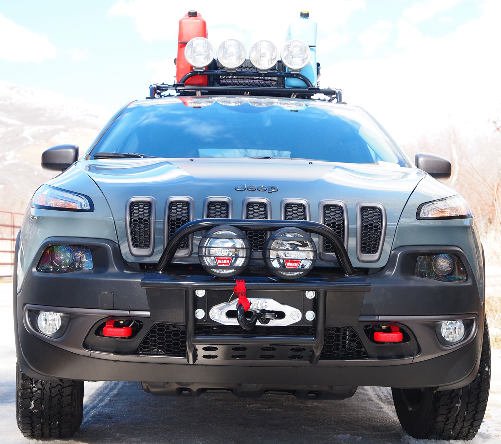 Jeep cherokee 2014 and newer bumper kit and winch kits cherokee kl 2014 cherokee bumper with winch aloadofball Image collections