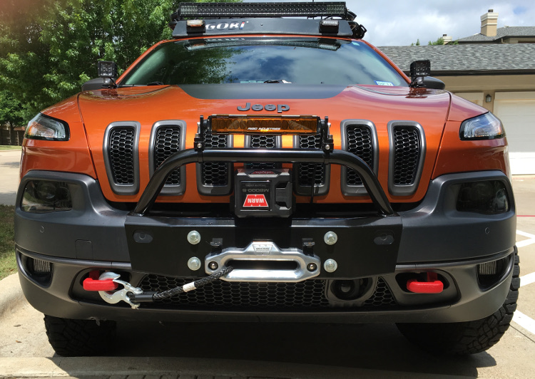 Jeep Cherokee 2014+ bumper winch kits: Cherokee KL 2014 ...