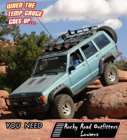 Jeep Liberty Hood Louver Cooling Kit Overheat Cure