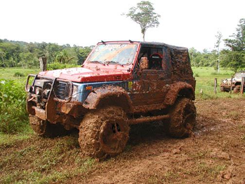 Muddy Jeep Cherokee