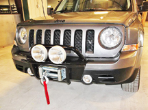 Jeep Patriot bumper with brush guard