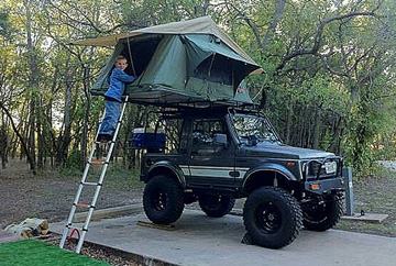 Samurai roof top tent